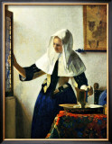 Young Dutch Woman with a Water Pitcher Framed Giclee Print by Jan Vermeer