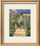 Artist's Garden at Vetheuil Prints by Claude Monet