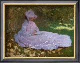 Springtime Print by Claude Monet