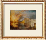 Burning of the Houses of Parliament Prints by William Turner