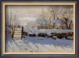 La Pie, Effet de Neige Posters by Claude Monet