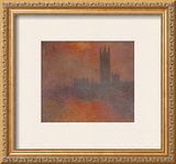 London Houses of Parliament Poster by Claude Monet