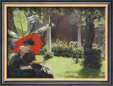 Afternoon in the Cluny Garden, Paris, 1889 Prints by Charles Courtney Curran