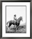 Young Yakima on Horseback Framed Giclee Print by Edward S. Curtis
