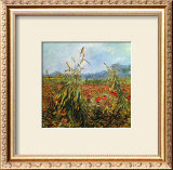 Field with Poppies Framed Giclee Print by Vincent van Gogh