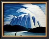 Lake and Mountains Prints by Lawren S. Harris