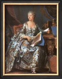 Madame Pompadour, 1755 Prints by Maurice Quentin de La Tour