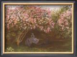 Resting Under the Lilacs Prints by Claude Monet
