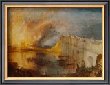 Burning of the Houses of Parliament Posters by William Turner