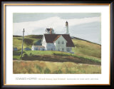 Hill and Houses Cape Elizabeth Maine Print by Edward Hopper