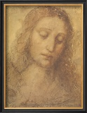 Christ's Head Poster by  Leonardo da Vinci