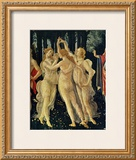 The Three Graces Print by Sandro Botticelli