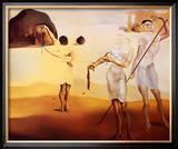 3つの液状の祈りで魅せられた浜辺 ポスター : サルバドール・ダリ