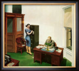 Office at Night Print by Edward Hopper