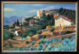 Riviera Hillside Print by William Glackens