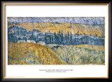 Rain at Auvers Print by Vincent van Gogh