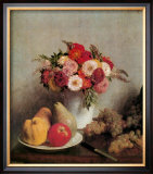 Still Life with Flowers and Fruits Prints by Henri Fantin-Latour