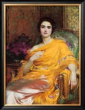 Portrait of Elsa, Daughter of William Hall, Esq. Posters by Frank Bernard Dicksee