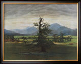 The Lonely Tree Prints by Caspar David Friedrich