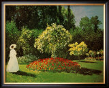 Lady in a Garden Poster by Claude Monet