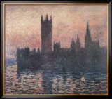 The Houses of Parliament, Sunset, 1903 Prints by Claude Monet