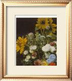 Mixed Flowers Posters by Pierre-Auguste Renoir