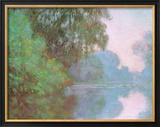 Morning On Seine Print by Claude Monet