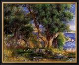 Landscape on the Coast Near Menton Print by Pierre-Auguste Renoir