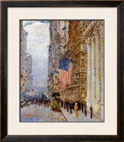 Flags on the Waldorf Art by Childe Hassam