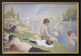 Bathers at Asnieres Art by Georges Seurat
