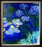 Gelbe Seerosen Und Agapanthes Poster by Claude Monet