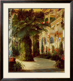 Interior of a Palm House Prints by Karl Blechen