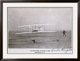 Wright Brothers Flight at Kitty Hawk Framed Giclee Print