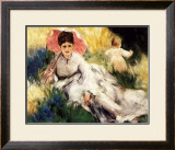 Woman with a Parasol Posters by Pierre-Auguste Renoir