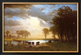Buffalo Trail Poster by Albert Bierstadt