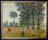 Fields in Spring Posters by Claude Monet