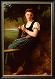 Knitting Girl, 1869 Prints by William Adolphe Bouguereau