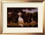 On the Cache la Poudre River, Colorado Print by Thomas Worthington Whittredge