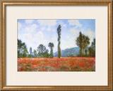 Campo de papoulas Pôsters por Claude Monet