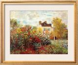 ヴェトゥイユのモネ家の庭 ポスター : クロード・モネ