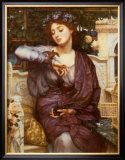 Libra and Her Sparrow Poster by Edward John Poynter