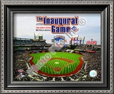 Citi Field 2009 Inaugural Game / 1st Pitch Framed Photographic Print