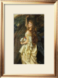 Ophelia and He Will Not Come Again, 1863-64 Print by Arthur Hughes
