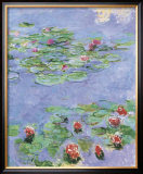 Water Lilies, c. 1914-1917 Art by Claude Monet