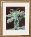 White Lilac in Glass Vase Prints by Édouard Manet