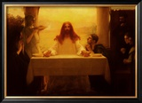 Christ and the Disciples at Emmaus Prints by Pascal Adolphe Jean Dagnan-Bouveret
