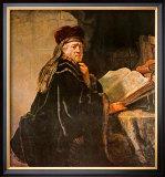 Rabbi Posters by  Rembrandt van Rijn