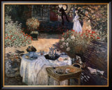 The Luncheon: Monet's Garden at Argenteuil Posters by Claude Monet