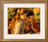 Two Girls Reading Framed Giclee Print by Pierre-Auguste Renoir