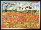 Field of Poppies, Auvers-Sur-Oise, c.1890 Posters by Vincent van Gogh